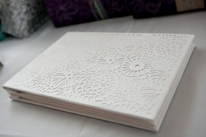 white-laser-cut-wedding-guest-book