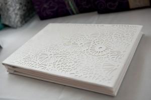 white-laser-cut-wedding-guest-book
